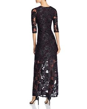 Leota - Floral Mesh Illusion Maxi Dress