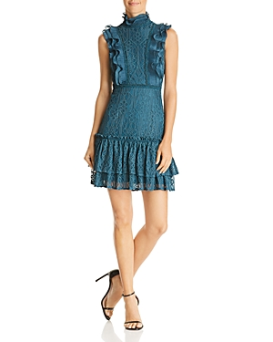 Aqua Tiered Ruffled Lace Dress - 100% Exclusive