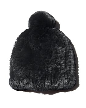 b445d05059a83 Maximilian Furs - Knit Rex Rabbit Fur Hat - 100% Exclusive ...