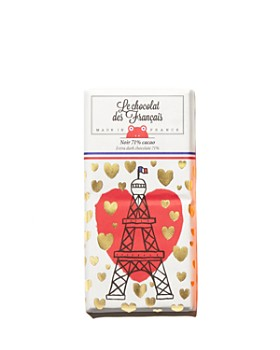 Le Chocolat des Francais - Eiffel Couer Extra Dark Chocolate Bar