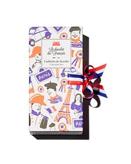 Le Chocolat des Francais - 3 Chocolate Bars
