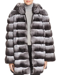 Maximilian Furs - Hooded Chinchilla Fur Coat - 100% Exclusive