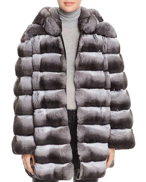 Maximilian Furs - Hooded Chinchilla Fur Coat - 100% Exclusive