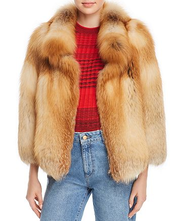 Maximilian Furs - Short Fox Fur Coat - 100% Exclusive