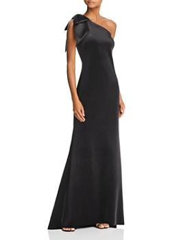 AQUA - One-Shoulder Velvet Gown - 100% Exclusive