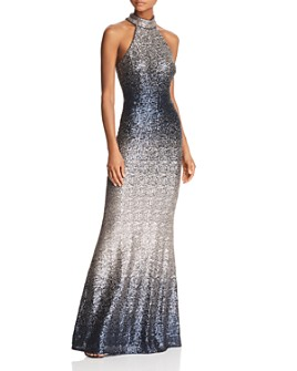 Avery G - Ombré Sequined Gown