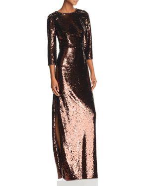 Aidan by Aidan Mattox Sequined Column Gown