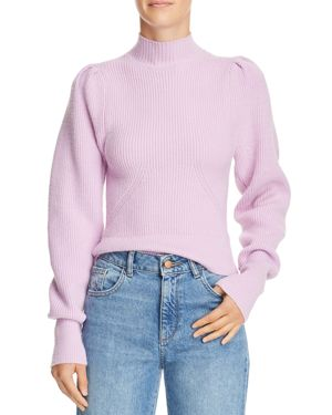 Puff Sleeve Sweater in Lilac