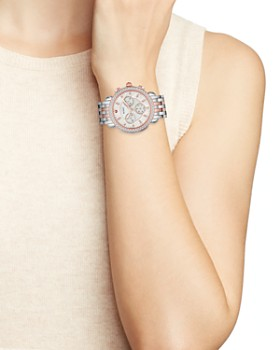 MICHELE - Sidney Mother-of-Pearl Diamond Chronograph, 38mm