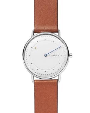 SKAGEN Men'S Horisont Brown Leather Strap Watch 40Mm, A Special Edition