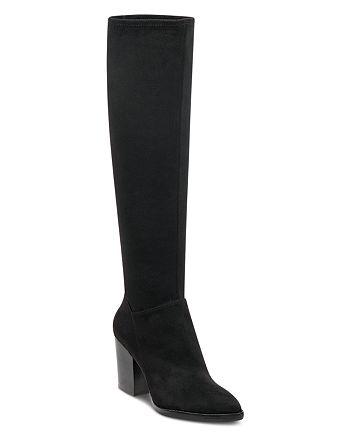 Marc Fisher LTD. - Women's Anata 2 Round Toe Tall Suede High-Heel Boots