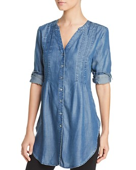 Liverpool Los Angeles - Chambray Button-Down Tunic