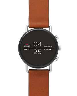 Skagen - Falster 2 Brown Leather Strap Smartwatch, 40mm