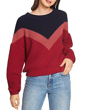 1.state Chevron Crewneck Sweater