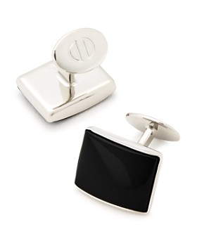David Donahue - Sterling Silver & Onyx Cufflinks