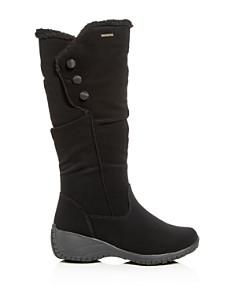 Khombu - Women's Amy Waterproof Cold-Weather Wedge Boots