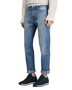 Burberry - Washed Japanese Selvedge Straight Fit Jeans in Light Indigo