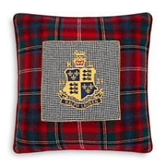 """Ralph Lauren - Queensbury Crest Decorative Pillow, 22"""" x 22"""""""