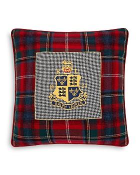"""Ralph Lauren - Queensbury Crest Decorative Pillow, 18"""" x 18"""""""