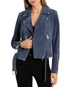 BAGATELLE.NYC - Belted Suede Biker Jacket