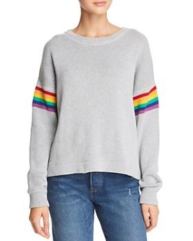 John and Jenn - Rainbow Stripe Sleeve Sweater