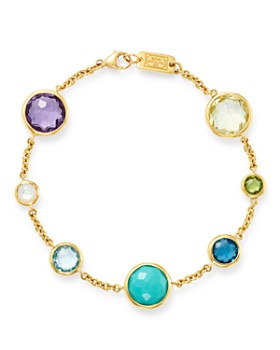 Ippolita 18k Yellow Gold Lollipop 7 Stone Link Bracelet