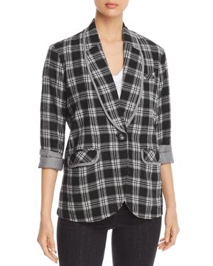 Billy T Flannel Plaid Blazer