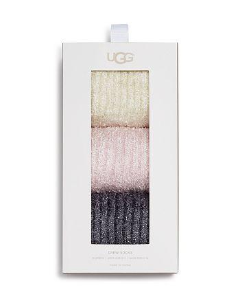 UGG® - Cozy Sparkle Socks Gift Set, Set of 3
