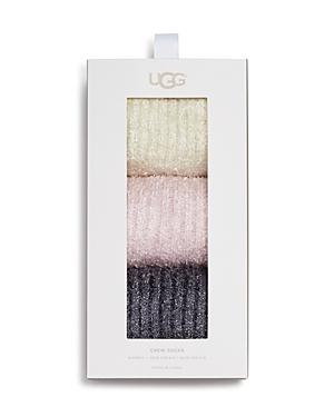 Ugg Cozy Sparkle Socks Gift Set, Set of 3