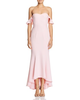 LIKELY - Sunset Off-the-Shoulder Gown