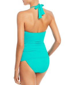 Ralph Lauren - Beach Look Halter Tankini Top & Beach Shirred Tab Hipster Bikini Bottom