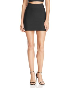 WOW COUTURE Luxe Mini Bodycon Skirt in Black