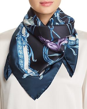 Salvatore Ferragamo Grace Patchwork-Print Silk Scarf