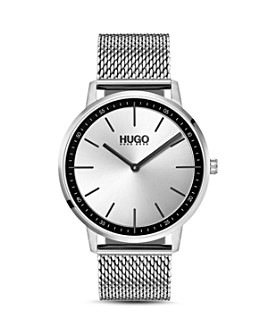 HUGO - #EXIST Stainless Steel Mesh Bracelet Watch, 40mm