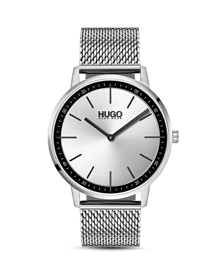 HUGO - #EXIST Stainless Steel Mesh Bracelet Watch, 40mm