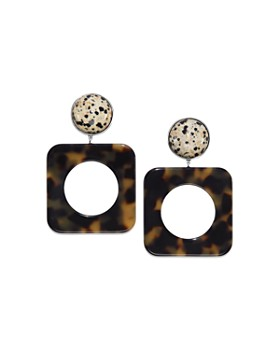 Tory Burch - Geometric Puzzle Clip-On Earrings