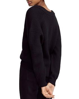 Maje - Master Ribbed Knit V-Neck Sweater