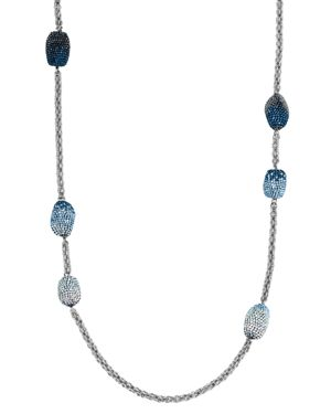 ATELIER SWAROVSKI Moselle Strand Necklace, 37 in Blue/Silver