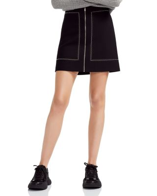 Jimage Studded A Line Mini Skirt by Maje