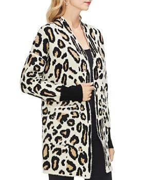 VINCE CAMUTO - Cheetah Knit Cardigan