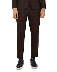 Ted Baker - DDarto Bouclé-Check Relaxed Fit Trousers