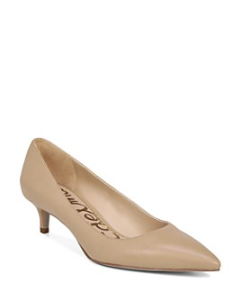 Sam Edelman - Women's Dori Pointed Toe Kitten Heel Pumps