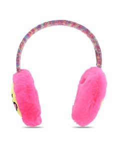 Capelli - Girls' Kissy Face Emoji Earmuffs & Gloves Set - Little Kid, Big Kid
