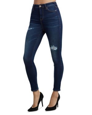 TRUE RELIGION Caia High Waisted Skinny Jeans in Blue Valley
