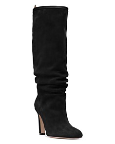 Stuart Weitzman - Women's Charlie Pointed-Toe Knee-High Suede High-Heel Boots