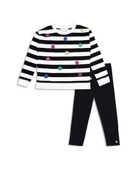 kate spade new york - Girls' Dotted Striped Top & Leggings Set - Baby
