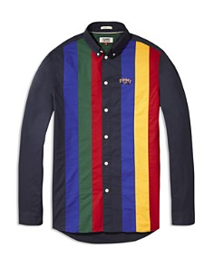 Tommy Jeans - Retro Striped Regular Fit Button-Down Shirt