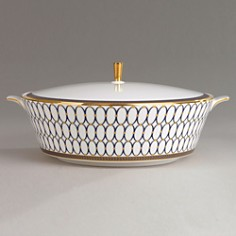 "Wedgwood ""Renaissance Gold"" Covered Vegetable Dish - Bloomingdale's Registry_0"