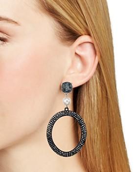 AQUA - Round Crystal Drop Earrings - 100% Exclusive