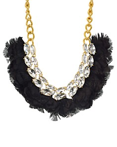 """kate spade new york - Crystal & Feather Statement Necklace, 16"""""""